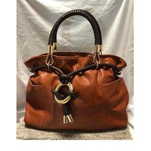 Michael Michael Kors Braided Handle Large Leather